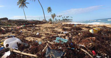 plage polluée plastique
