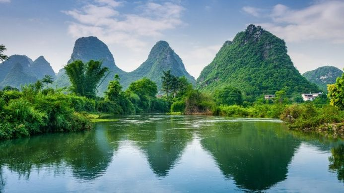 Le district de Yangshuo en Chine